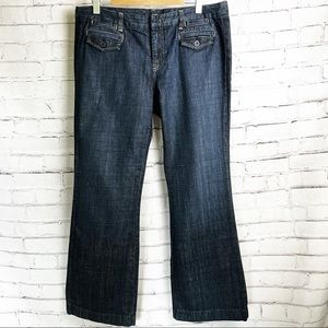 J. Crew Vintage Low Rise Wide Leg Jeans in Dark Rinse   35